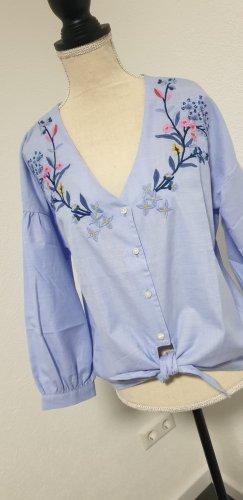 Damenhemd Blumenstickerei