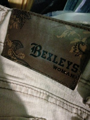 Bexleys Pantalon pattes d'éléphant beige clair-beige