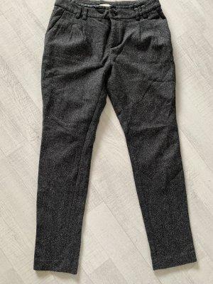 Esprit Spodnie typu boyfriend czarny-antracyt