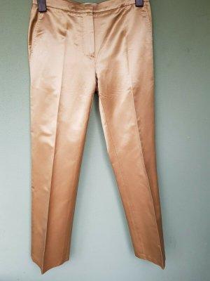 Max Mara Spodnie garniturowe złoto Jedwab