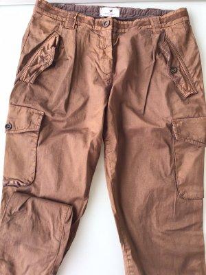 René Lezard Cargo Pants bronze-colored cotton