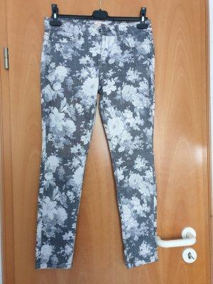 Pantalon cinq poches gris clair-gris