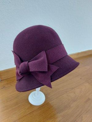 Accessorize Chapeau en feutre violet foncé