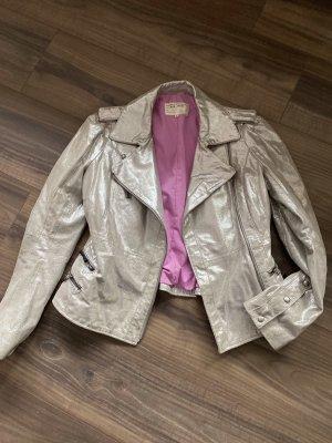 BSB Jeans Overgangsjack zilver-neonroos
