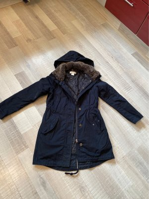 H&M L.O.G.G. Long Jacket dark blue