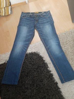 & DENIM Tube jeans donkerblauw
