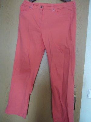 Pantalon en lin orange