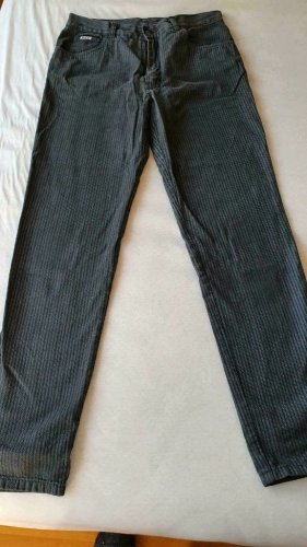 His Jeansy z prostymi nogawkami ciemnoniebieski Bawełna