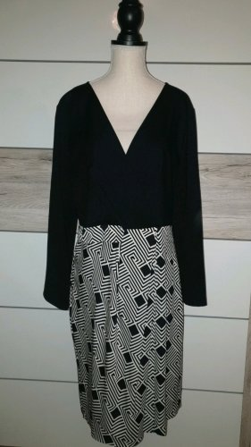 Diane von Furstenberg Robe de soirée blanc-noir