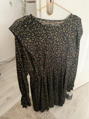 Zara Jerseyjurk zwart-oker
