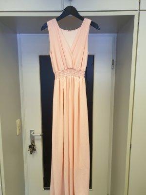 Vestido strapless rosa
