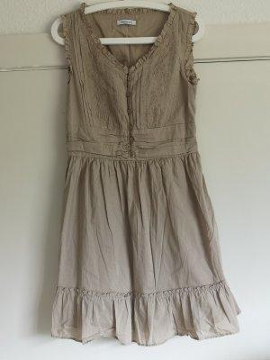 Damenkleid beige Knielanges Kleid