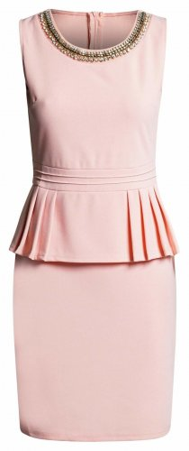 Peplum Dress pink