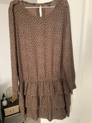 Scotch & Soda Robe chiffon brun noir-ocre