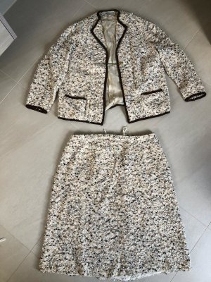 Coarse Knitted Jacket oatmeal-bronze-colored mixture fibre