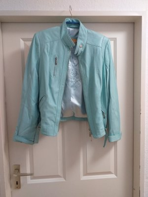 Biba Leather Jacket turquoise