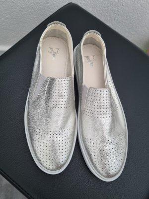 Venturini Pantofel srebrny Skóra