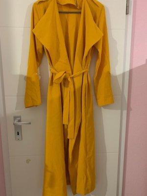 Cappotto lungo fino a terra giallo-oro