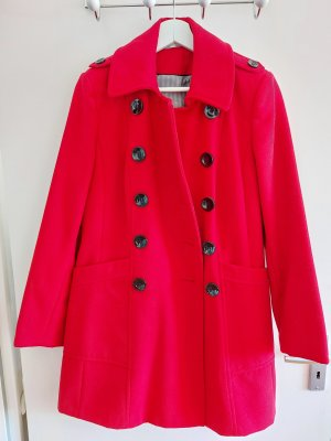 Marks and Spencer Heavy Pea Coat red