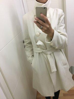 3suisses Wełniany płaszcz biały