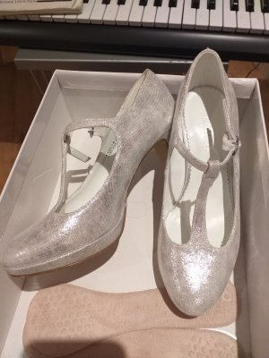 Catwalk Backless Pumps silver-colored