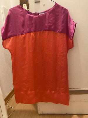 Oui Haut en soie orange-violet