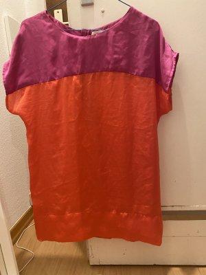 Oui Silk Top orange-violet