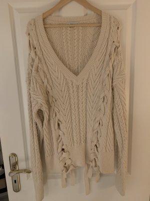 Zara Knit Grof gebreide trui room-beige