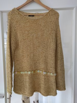 Oui Pullover a maglia grossa sabbia