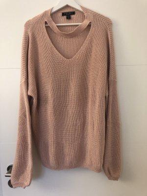 Amisu Coarse Knitted Sweater pink