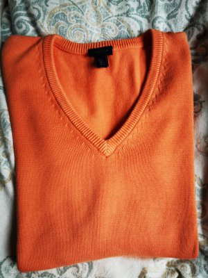 Gant Pull col en V orange clair