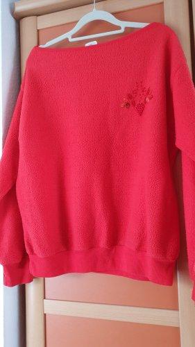 Polarowy sweter czerwony Poliester