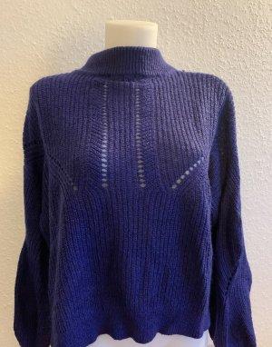 Pullover a maglia grossa viola scuro