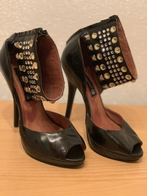 Friis & Company Peep Toe Pumps black