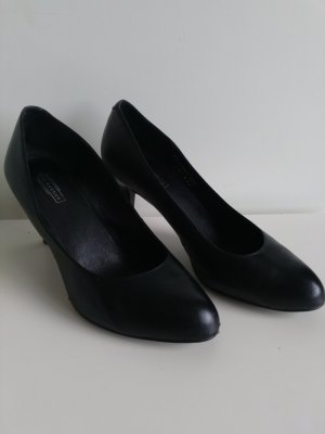 5th Avenue High Heels black leather