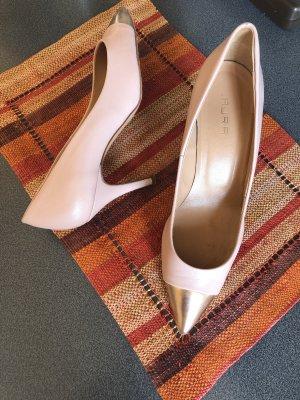 Laura Zapatos de punta color rosa dorado