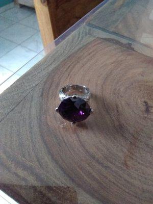 Just cavalli Bague en argent argenté-violet