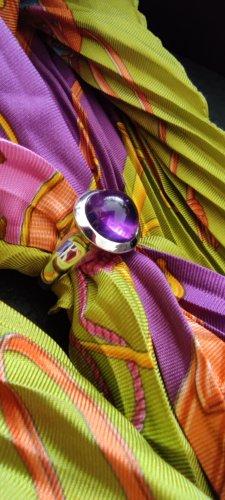 ohne Etikett Złoty pierścionek srebrny-ciemny fiolet