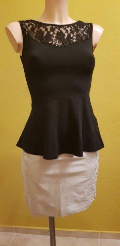 H&M Jupe taille haute blanc-gris clair