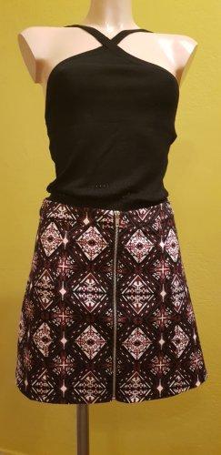 H&M Jupe taille haute blanc-bordeau