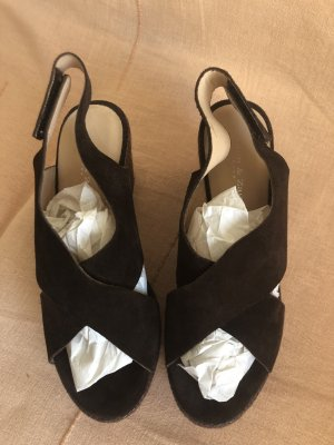 Zanon & Zago Plateauzool sandalen bruin Leer