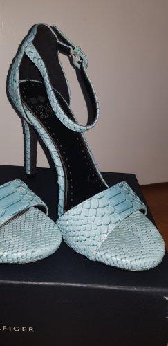 Even & Odd Sandalen met bandjes en hoge hakken lichtblauw
