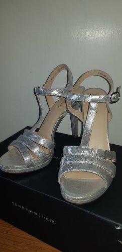 Catwalk Sandalen met bandjes en hoge hakken zilver