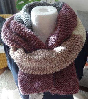 Bufanda de punto multicolor lana de alpaca