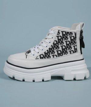 100% Fashion Scarpa slip-on bianco-nero