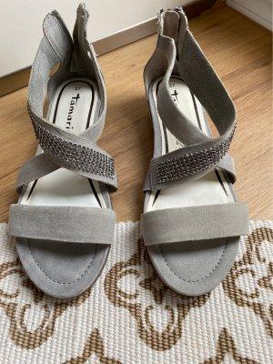 Tamaris Sandalo comodo grigio chiaro-argento