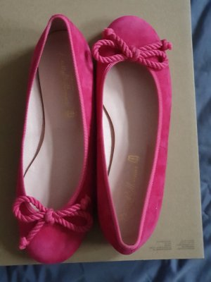 Pretty ballerinas Mary Jane Ballerinas magenta mixture fibre