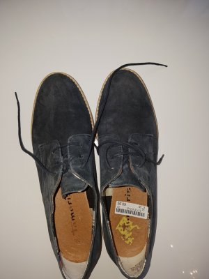 Tamaris Oxfords slate-gray leather
