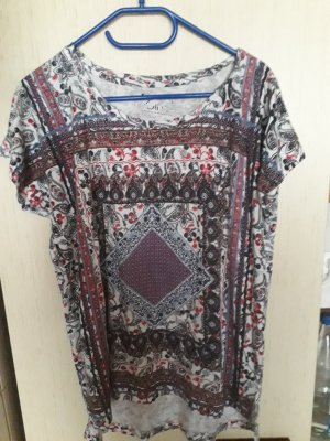Batik Shirt white-grey brown