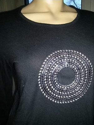 Damenshirt von no compromise- Gr- L- schwarz mit silbernene Pailletten